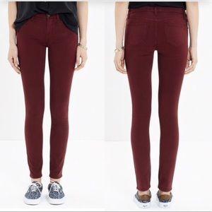 Madewell• Skinny (Skinny) Jeans Maroon, 24